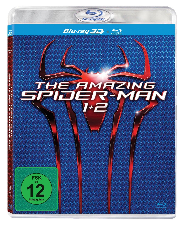 The Amazing Spider-Man 1 und 2 (3D + 2D Version) [3D Blu-ray] nur 9,99€