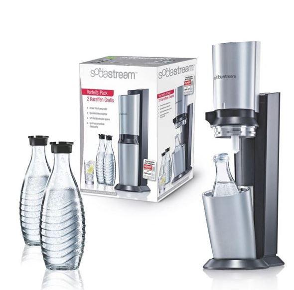 """Sodastream """"Crystal"""" mit 3 Glaskaraffen und CO2-Zylinder um nur 103,90 € statt um 118,89 €"""