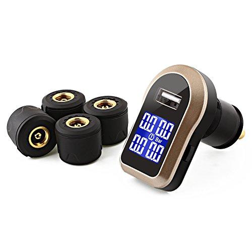 Reifendruckkontrollsystem mit 4 Sensoren für 64,99€ inkl.Versandkosten
