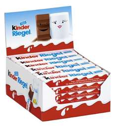 Amazon: Kinder Riegel 36er Pack um 9.24€, Kinder Happy Hippo Cacao 28er Pack um 9.45€