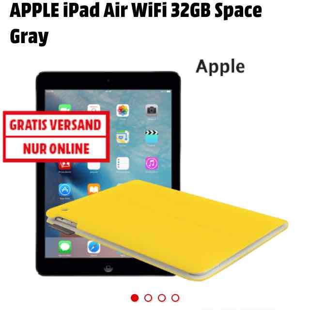 Mediamarkt SuperSonntag - iPad Air WiFi 32GB + Logitech Cover für 345€