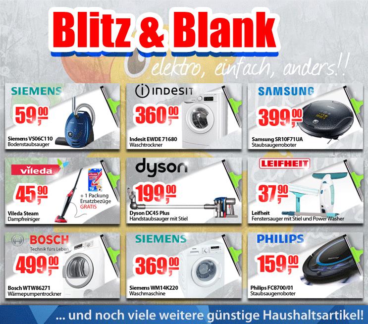 0815.at: Blitz & Blank Woche mit vielen Haushaltsartikeln zum Aktionspreis - nur bis zum 24. April
