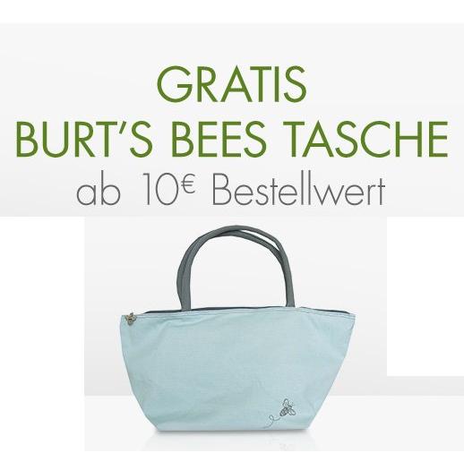 Gratis Burt's Bees Tasche ab 10€ Bestellwert