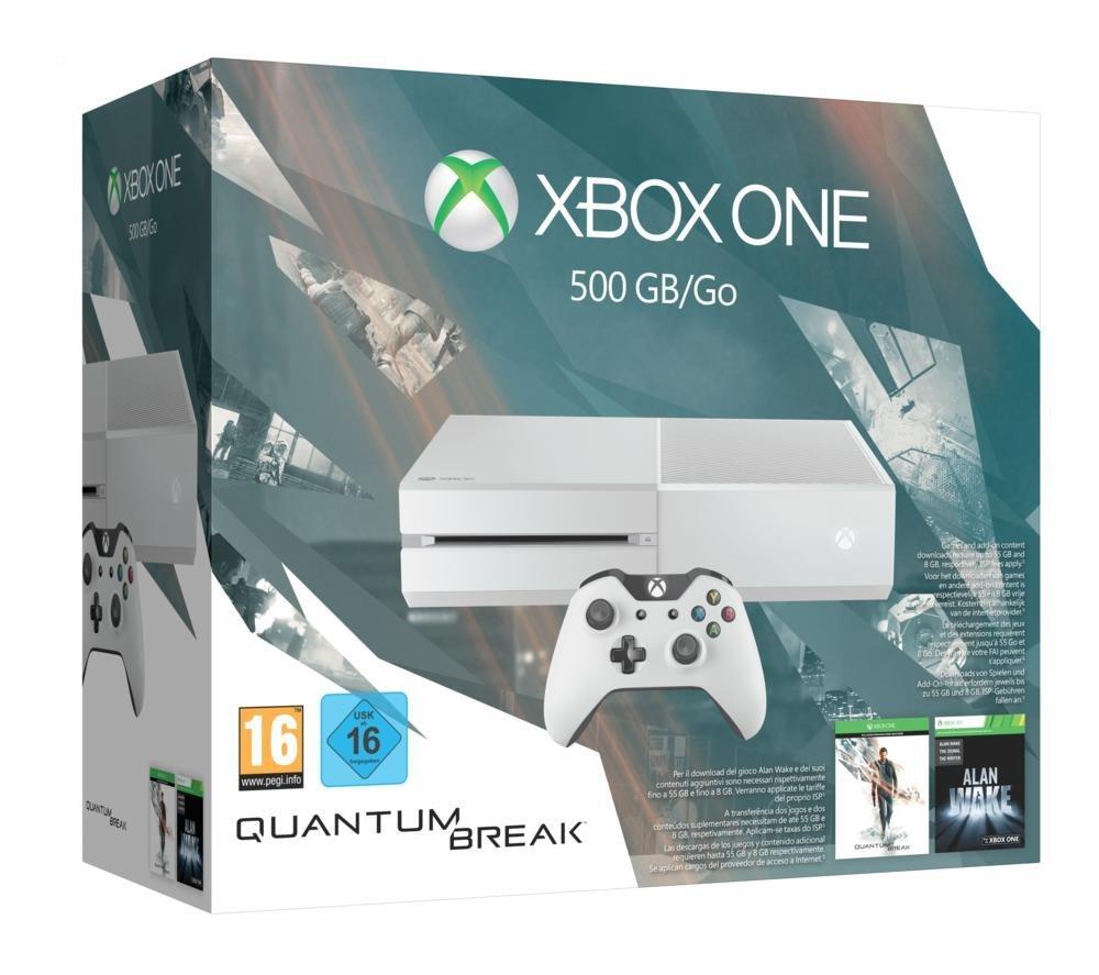 Amazon: Xbox One 500GB Konsole - Bundle inkl. Quantum Break und Alan Wake Special Edition für 259,97€