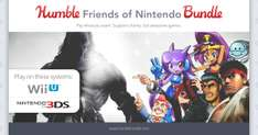 Humble Friends of Nintendo Bundle - bis zu 9 Wii U & 3DS Spiele ab 0,88€