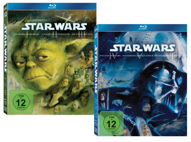 [mediamarkt] 8 bis 8 Nacht: Star Wars Episode I-III bzw IV-VI ( Blu-Ray) für je 27€ - bis 23% sparen