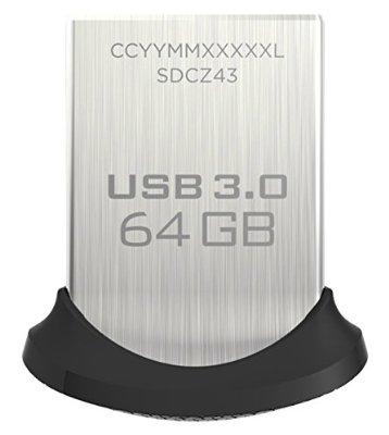 SanDisk Cruzer Ultra Fit USB 3.0 div. Größen reduziert
