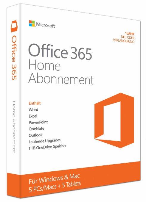 Office 365 Home für 5 PCs/Macs 1-Jahresabo