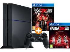 [Saturn.at] PlayStation 4 500 GB (CUH-1216) schwarz + WWE 2K16 + NBA 2K16 für 295€ - 24% sparen
