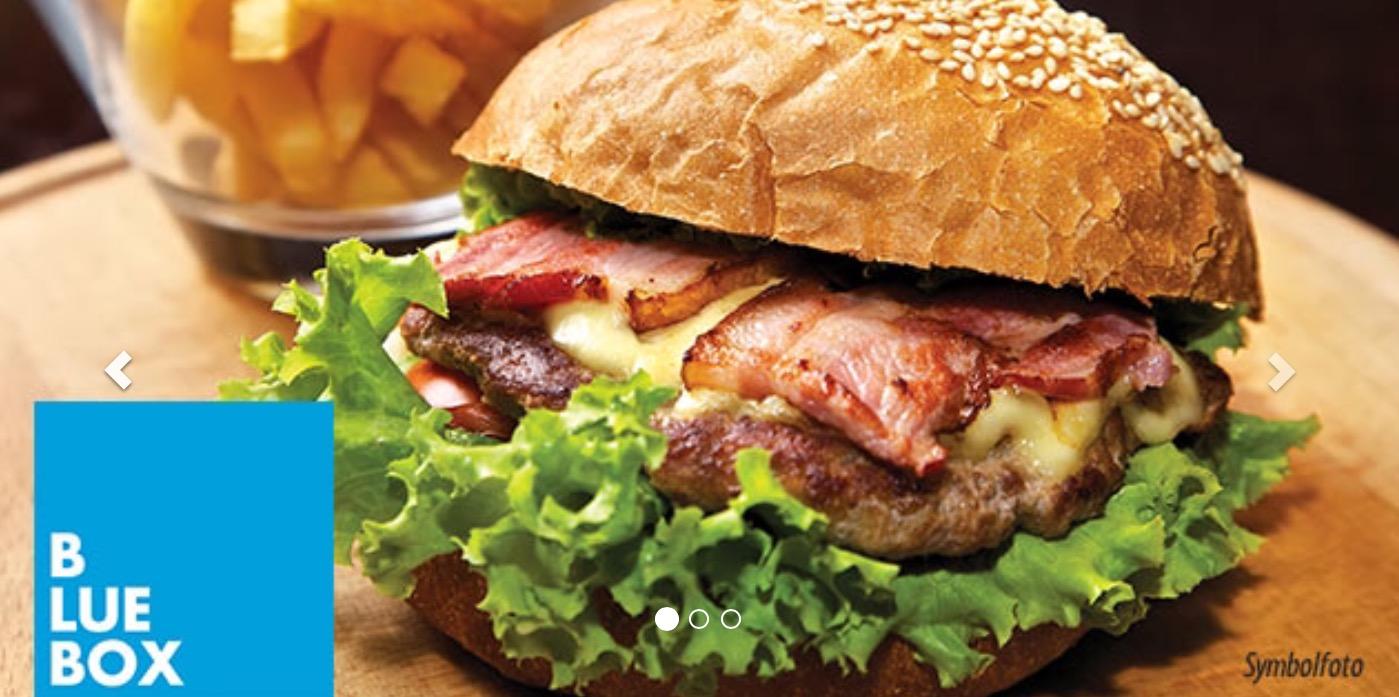 Blue Box Wien: 2x Burger + 2x kl Salat um 12 € - statt 25,40 € - 53% sparen