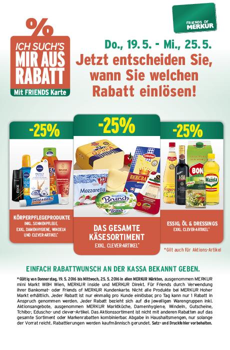 Lebensmittelhandel Angebotsübersicht 19.5.2016 - 25.5.2016