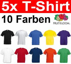 5er Pack Fruit of the Loom T-Shirts für 9,99€ bei Ebay *UPDATE*