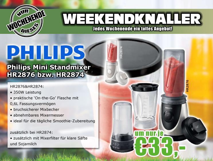 0815.at: Philips HR2876/00 Mini Standmixer (schwarz oder weiß) für 37,99€