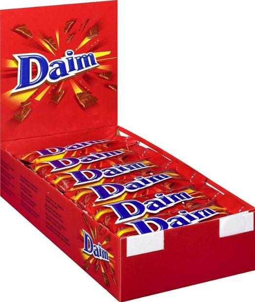 Daim Riegel 36er Pack (36 x 28g = 1kg) für 11,23€ statt ca. 21€
