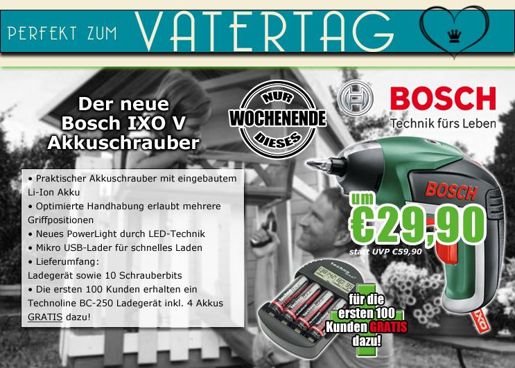 0815.at: Bosch IXO V Akkuschrauber für 34,89€