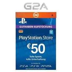 PSN Playstation Network Card (für DE Accounts) Key 50€ um 41,73€ @ebay