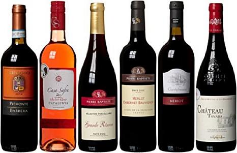 Amazon Angebot: Wein Probierpaket europäische Weine trocken (6 x 0.75 l)