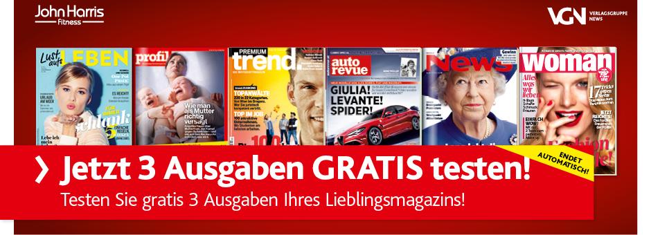 VGN: 3 Ausgaben eines Magazins nach Wahl kostenlos testen!