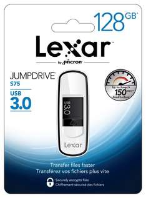"Lexar ""S75"" USB 3.0 Stick (128 GB) um 22 € - 44% sparen"