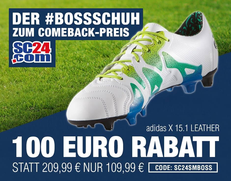 adidas X 15.1 Fußballschuh für 113,98 inkl. Versand (AT+1€)