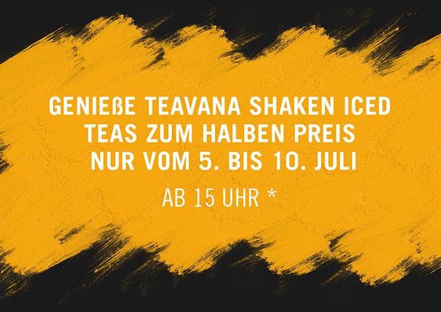 [Starbucks] TEAVANA Eistee zum halben Preis ( 5.-10. Juli ab 15:00 Uhr)
