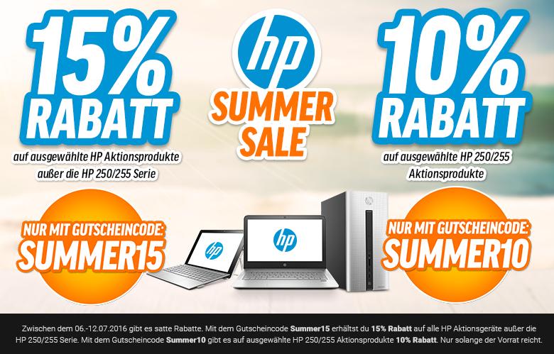 Bis zu 15 % Rabatt: Großer Notebooksbilliger HP Summer-Sale
