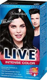 [www.AMAZON.de] Plus-Produkt /  Live Intense 099 Deep Black Color, 3er Pack