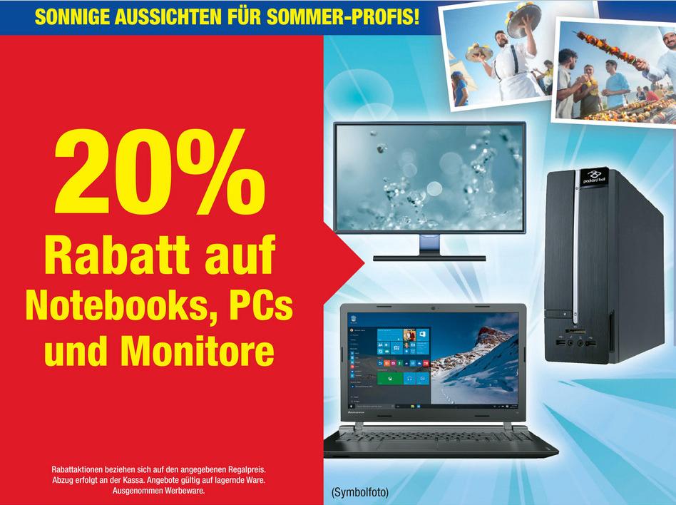 METRO: -20% auf alle lagernden Monitore, PC, Laptop