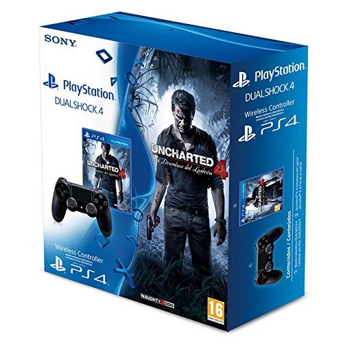 [amazon.es] Uncharted 4 (PS4) + DualShock 4 Controller ( schwarz) für 75,07€ - 23% sparen