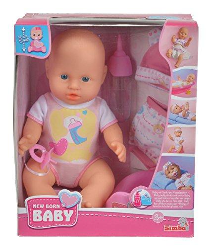 Puppe (30cm) - New Born - mit Kleidungsset + Töpfchen + Flasche von Simba für 9,09€ mit [Amazon Prime] statt ca. 20€