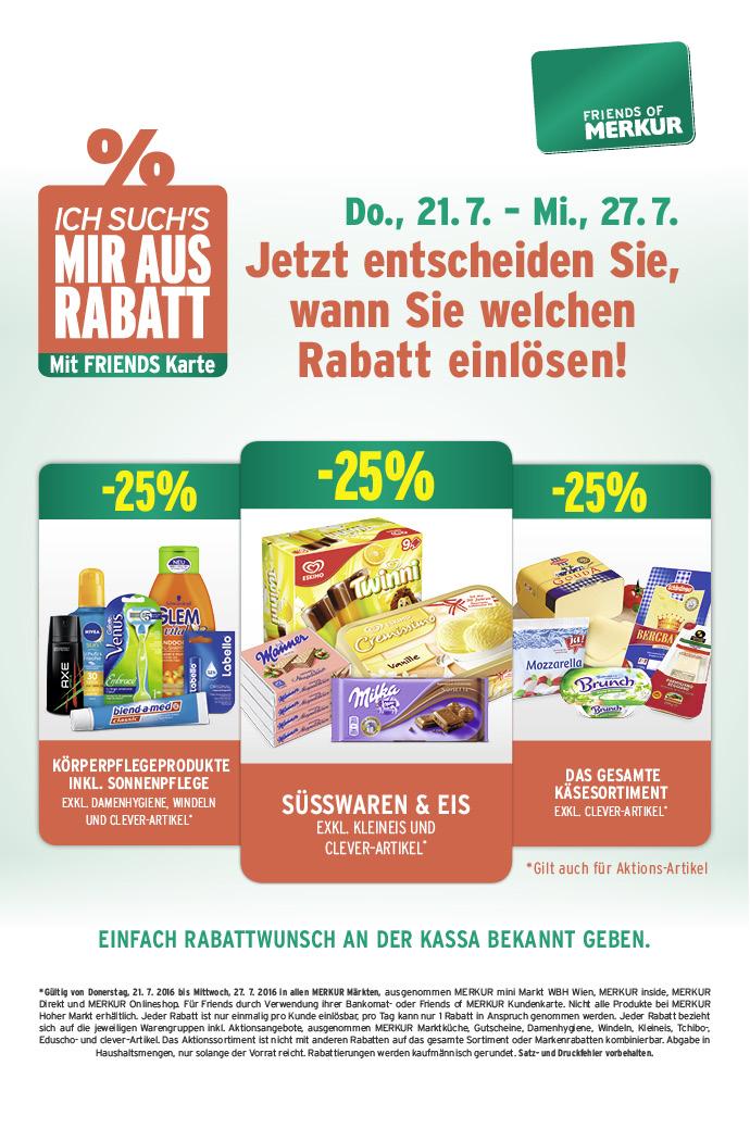 Lebensmittelhandel Angebotsübersicht 21.7.2016 - 27.7.2016