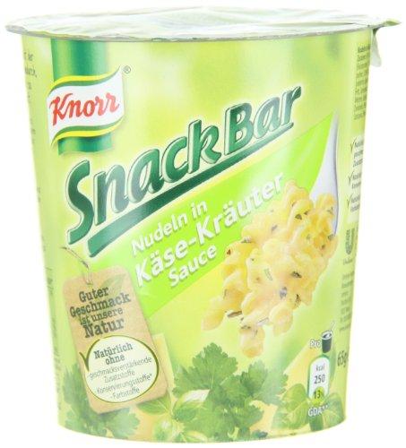 [Amazon Blitzangebot] Knorr Snack Bar Nudeln in Käse-Kräuter Sauce, 8-er Pack (8 x 65 g) für 6,34€