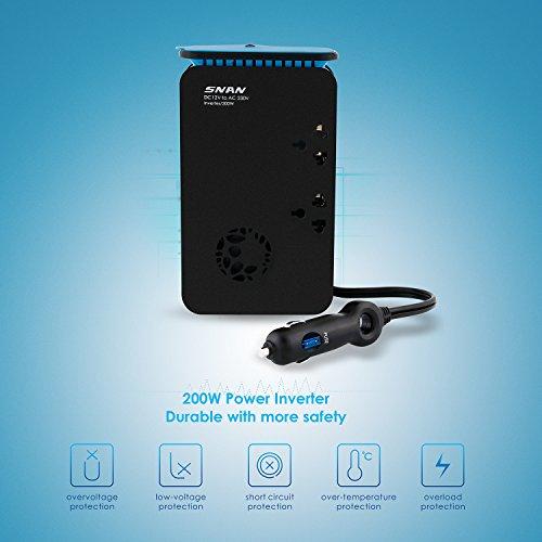 [Amazon Blitzangebot] 200W Kfz Wechselrichter mit 2 USB Anschlüsse für 22,79€