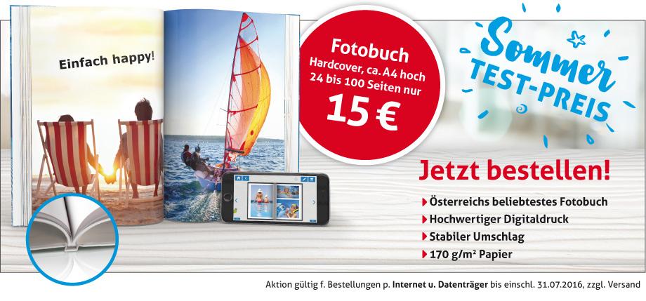 Fotobuch(HappyFoto) bis 100 Seiten um €15 statt €63 oder echtes Fotobuch um €30 statt €114 + 4,95 Versand