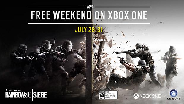 Xbox Live Free Weekend - Rainbow Six Siege vom 28. bis zum 31. Juli kostenlos spielen