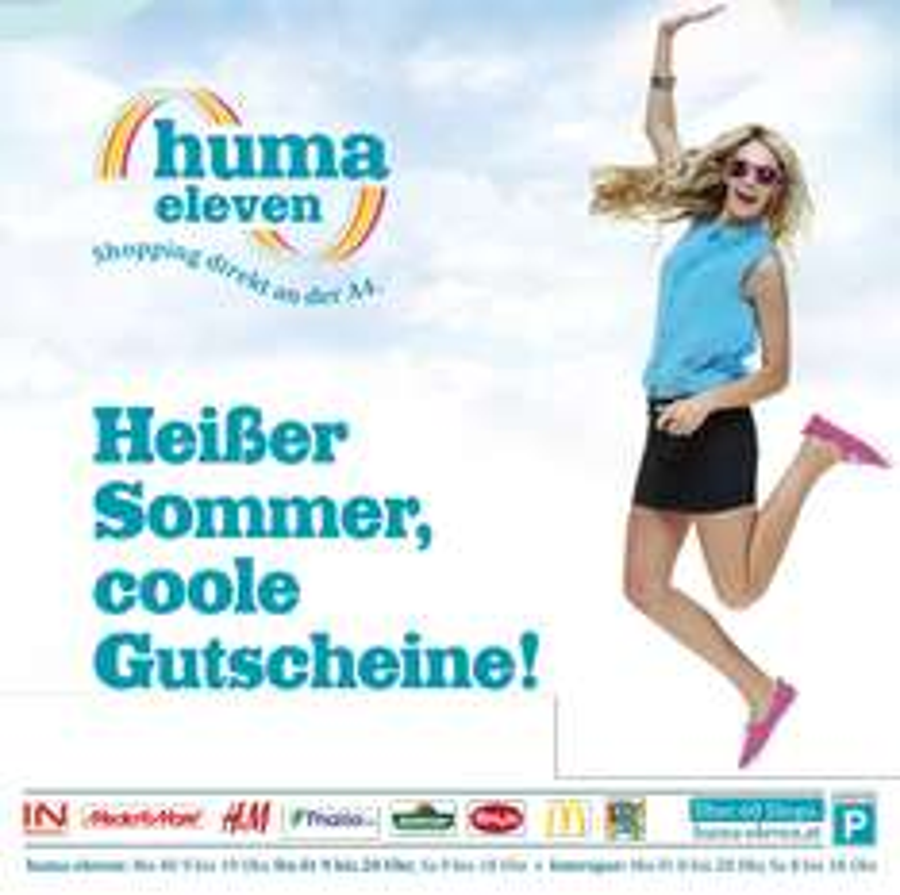 Huma Eleven (Wien Simmering) Gutscheinheft vom 29.7 bis zum 12.8 - u.a. mit 5€ Libro Gutschein