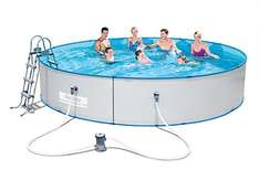 [amazon] Bestway Stahlwandpool Hydrium Splasher Set 460 x 90 cm für 237,52€