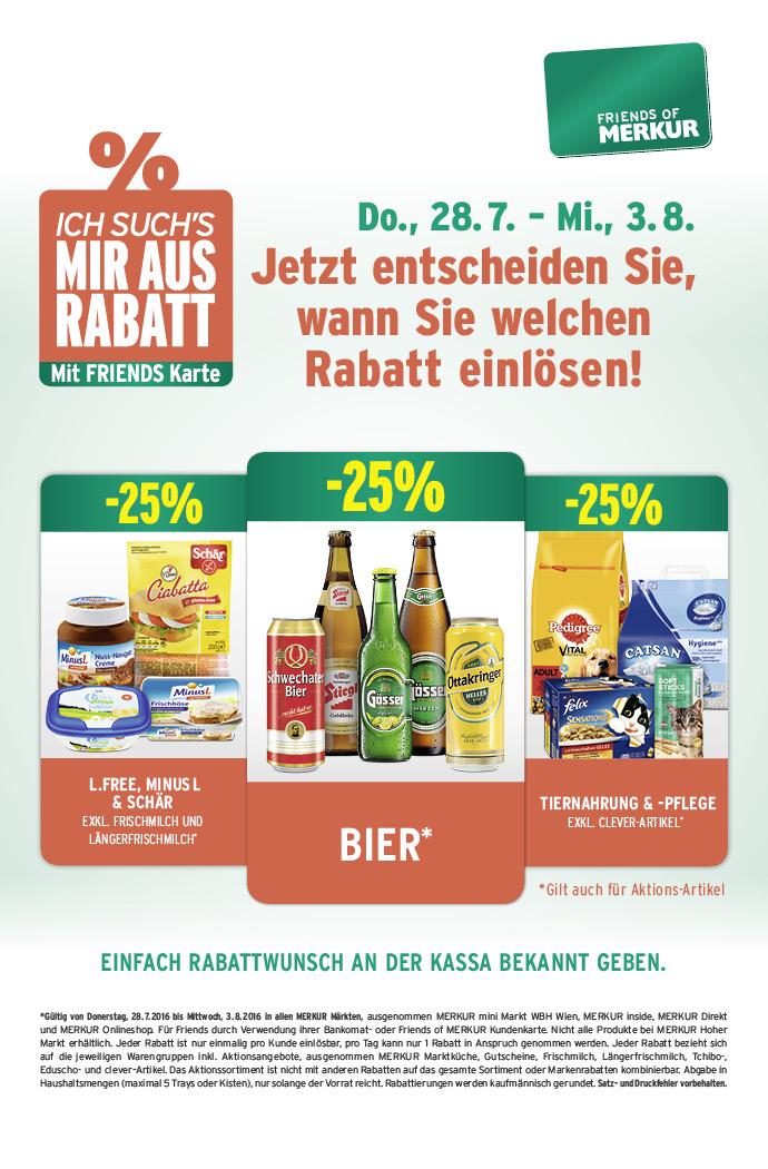 Lebensmittelhandel Angebotsübersicht 28.7.2016 - 3.8.2016