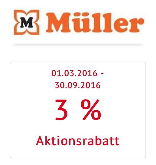 Müller: 3% Rabatt auf Alles (Bank Austria Bankomatkarte)