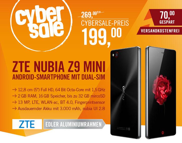 [CYBERPORT]ZTE Nubia Z9 Mini für €199,- Versandkostenfrei!