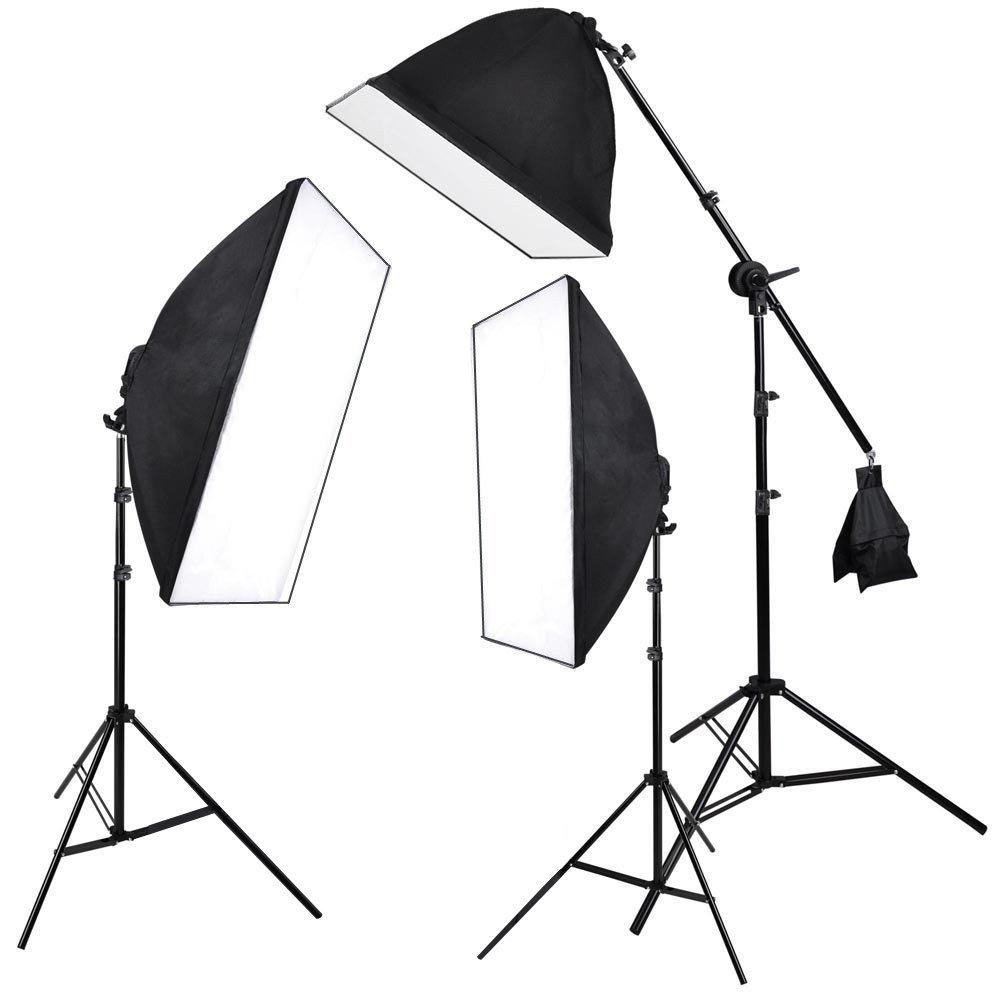 [Amazon Marktplatz] Softbox Set mit Galgenstativ, 3x 135W Fotolampe für 69,99€