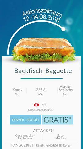 Nordsee: GRATIS Backfisch-Baguette für alle Pokemon Go Trainer - nur vom 12 - 14. August