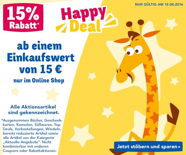 ToysRus: 15% Rabatt auf fast alles - nur heute gültig!