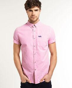 Superdry: Kurzarm Hemd (rosa) um 19,95 € - Bestpreis