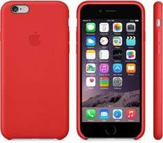 Apple iPhone 6 Plus Leder Hülle (rot) um 19 € - 35% sparen