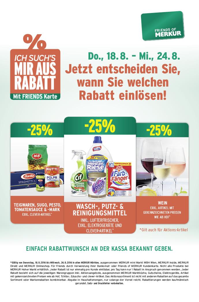 Lebensmittelhandel Angebotsübersicht 18.8.2016 - 24.8.2016