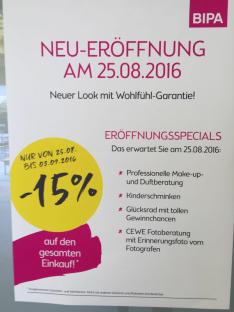 Bipa Neueröffnung in Alterlaa -15% auf den gesamten Einkauf