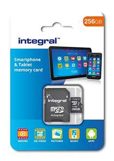 Integral microSDXC (256 GB) um 23,49 € (Amazon Vorbestellung)