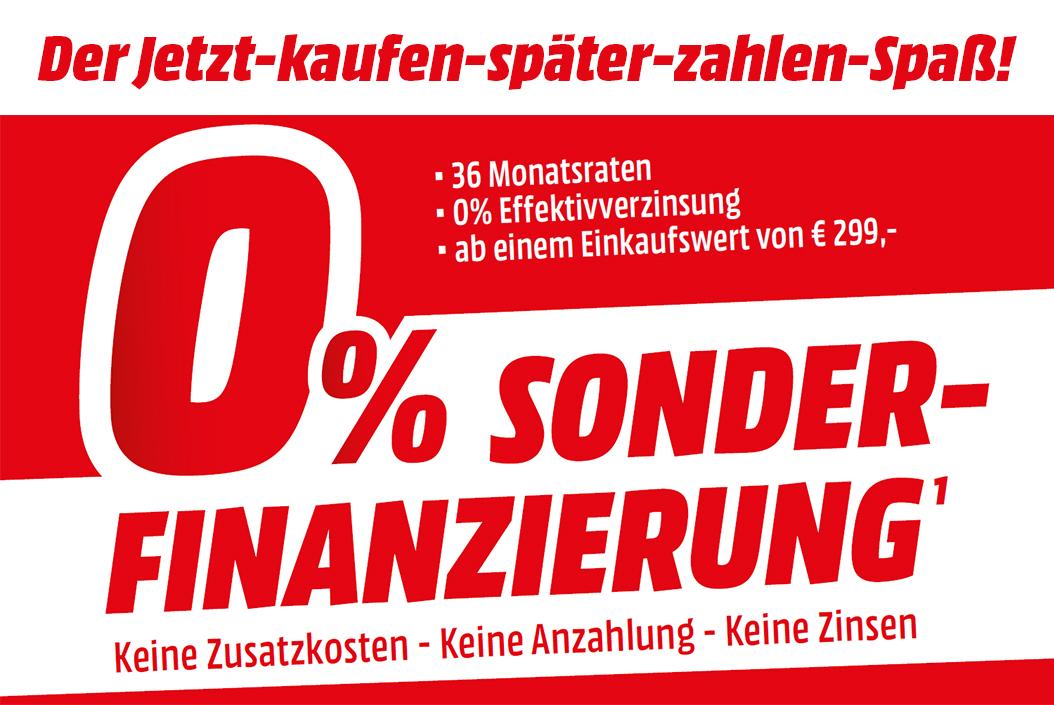 Media Markt: 0% Sonderfinanzierung