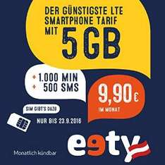 [AMAZON] eety PROMO LTE 5 GB + 1000 Min + 500 SMS um 9,90